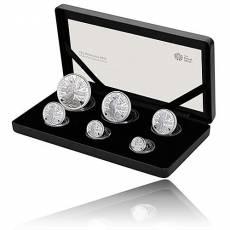 6 Coin-Set Britannia Silber PP 2020