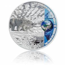 Silbermünze 2 oz Polar Eco System - Unsere Erde 1. Ausgabe Polierte Platte 2020