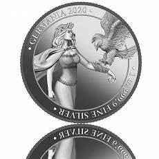 1 Unze Silber Germania 5 Mark Polierte Platte (2020) 2. Ausgabe