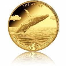1 Unze Goldmünze Kongo World´s Wildlife - Der Wal 2. Ausgabe (2020)