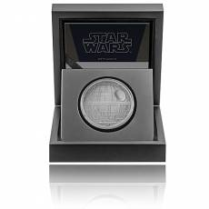 1 Unze Silbermünze PP Star Wars Kollektion Todesstern 2020 - 1. Motiv