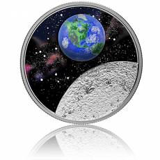 Silbermünze 1 oz Mother Earth - Our Home - Glas PP 2020