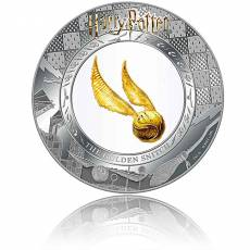 Silbermünze 2 oz + 0,2 gramm Gold Harry Potter The golden Snitch PP 2020