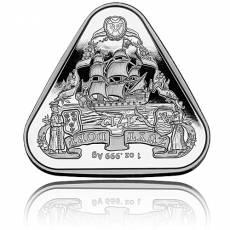 1 oz Silbermünze Zuytdorp-Schiffswracks - erste dreieckige Anlagemünze 2020