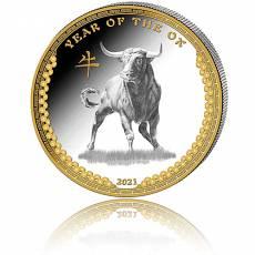 Silbermünze 1 oz Jahr des Ochsen/Year of the ox PP High Relief 2021