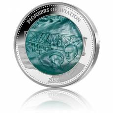 Silbermünze 5 oz Pioniere der Luftfahrt - Wright Brothers - Mother of Pearl PP 2021