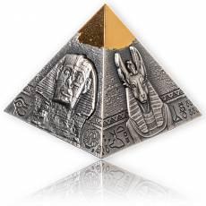 5 oz Silber-vergoldet Pyramide of Khafre 3D-Antik Finish 2021