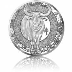 Silbermünze 1 oz Jahr des Ochsen Frankreich PP 2021