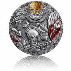 Silbermünze 3 oz Viking Axeman High Relief Antik Finish 2020