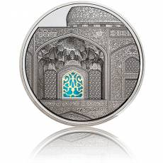 Silbermünze 5 oz Tiffany Art Isfahan Palau Black Proof 2020