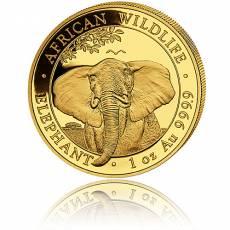 Somalia Elefant 1 Unze Gold (2021)