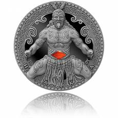 Silbermünze 2 oz World Cultures Maori Ultra High Relief Antik Finish 2020