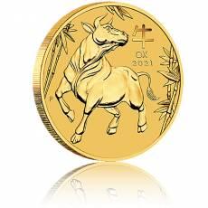 1/20 Unze Goldmünze Australien Lunar III Ochse (2021)