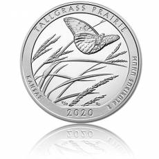 5 oz Silber US-Mint American Beautiful Kansas - Tallgrass Prairie (2020)
