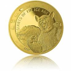1 Unze Goldmünze Giganten der Eiszeit - Höhlenbär polierte Platte (2020)