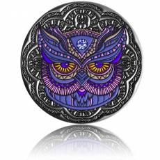 Silbermünze 2 oz Eule - Mandala - Art 2020