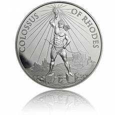 1 Unze Silber Round 7 Wunder der Antike Koloss von Rhodos 1. Ausgabe