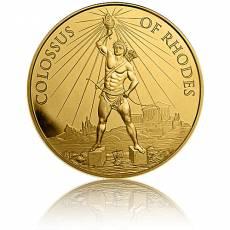 1 Unze Gold Round 7 Wunder der Antike Koloss von Rhodos 1. Ausgabe