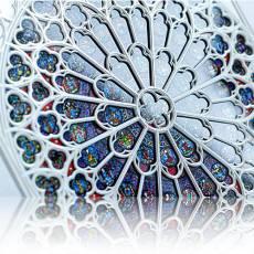 Silbermünze 60 gramm The Rose Südfenster Notre Dame Paris 2020