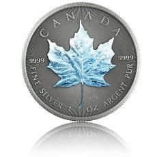1 Unze Silbermünze Maple Leaf Vier Jahreszeiten Winter Antik Finish 2020