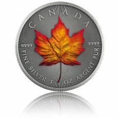 1 Unze Silbermünze Maple Leaf Vier Jahreszeiten Herbst Antik Finish 2020