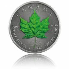 1 Unze Silbermünze Maple Leaf Vier Jahreszeiten Sommer Antik Finish 2020