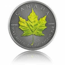 1 Unze Silbermünze Maple Leaf Vier Jahreszeiten Frühling Antik Finish 2020