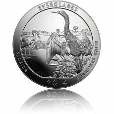 5 oz Silber US- Mint American Beautiful Everglades Florida (2014)