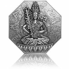 Silbermünze 5 oz Akasagarbha Goddess Of Mercy 2020
