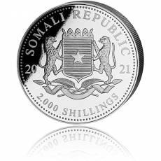 Silbermünze 1 kg Somalia Elefant 2021