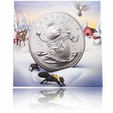 Silbermünze Schneemann 20 Dollar Canada Spezial Blister 2014