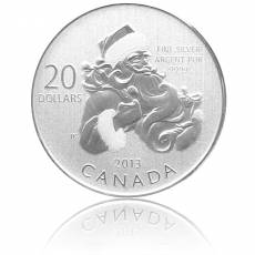 Silbermünze Santa Claus 20 Dollar Canada 2013