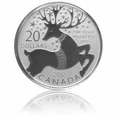 Silbermünze Rentier 20 Dollar Canada 2012