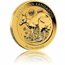 Australien Känguru 1/4 Unze Goldmünze 2021