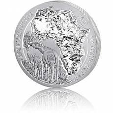 1 Unze Silbermünze Ruanda African Ounce Okabi 2021