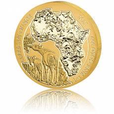 1 Unze Goldmünze Ruanda Okapi 2021