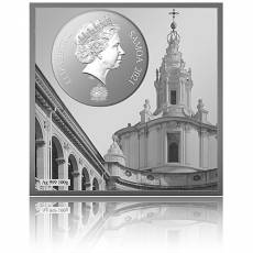 Silbermünze 100 gramm Dome in the Sant Ivo alla Sapienza Rom 2021