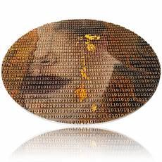 Silbermünze 3 oz Gustav Klimt goldene Tränen Matrix Art 2021 1. Ausgabe