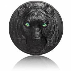 Silbermünze 1 kg Jäger bei Nacht - Schwarzer Panther PP 2021 1. Ausgabe