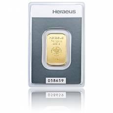 10 gramm Heraeus - Goldbarren 999,9/1000