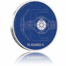 1 Unze Silbermünze Star Wars Ships TIE Advanced X1 2017 - 6. Motiv