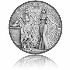 1 Unze Silbermünze Allegories Italia & Germania 5 Mark (2020) 3. Ausgabe