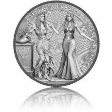 2 Unzen Silbermünze Allegories Italia & Germania 10 Mark (2020) 3. Ausgabe