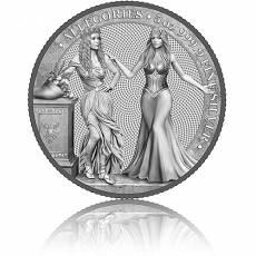 5 Unzen Silbermünze Allegories Italia & Germania 25 Mark (2020) 3. Ausgabe