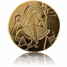 Goldmünze 1 oz König Tut Ägyptische Reliktserie Antik-Finish 2017
