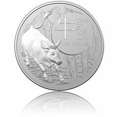Silbermünze 1 oz Australien RAM Lunar Ochse 2021