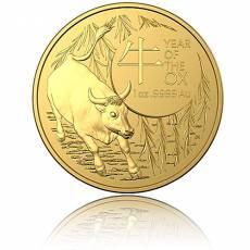 Goldmünze 1 oz Australien RAM Lunar Ochse 2021