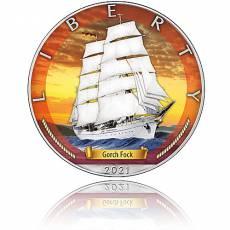 Silbermünze Zeitalter der Segel Gorch Fock 2. Ausgabe 2021