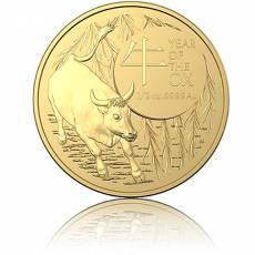 Goldmünze 1/2 oz Australien RAM Lunar Ochse 2021