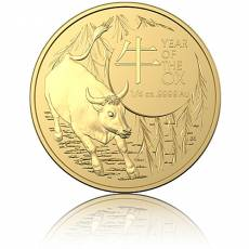 Goldmünze 1/4 oz Australien RAM Lunar Ochse 2021